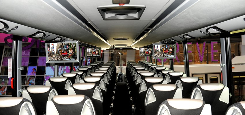 interior coach bus
