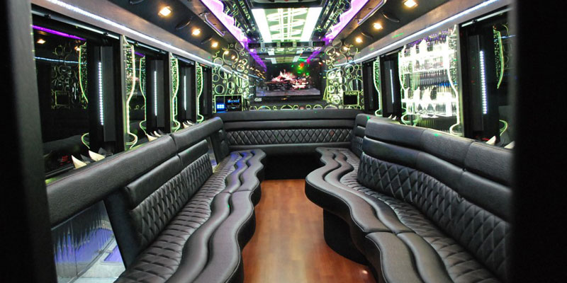 interior design of Party Bus 20 Pax