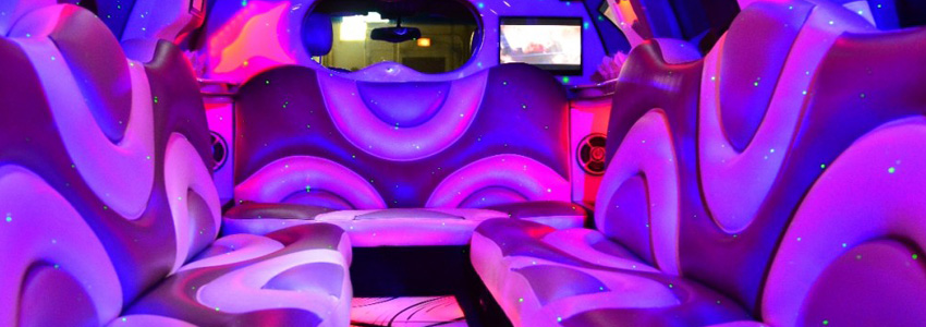 Pink Hummer Limo LED light color